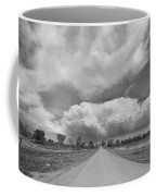 Colorado Country Road Stormin Skies Bw Coffee Mug