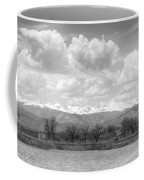 Colorado Front Range Rocky Mountains Panorama Bw Coffee Mug