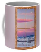 Colorado Moon Sunrise Barn Wood Picture Window View Coffee Mug