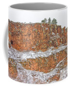 Colorado Red Sandstone Country Dusted With Snow Coffee Mug
