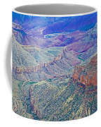 Colorado River From Walhalla Overlook On North Rim Of Grand Canyon-arizona Coffee Mug