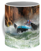Colorado River Rafters Coffee Mug by Inge Johnsson