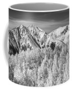 Colorado Rocky Mountain Autumn Magic Black And White Coffee Mug