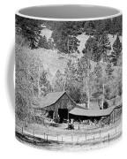 Colorado Rocky Mountain Barn Bw Coffee Mug