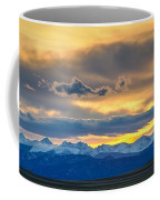 Colorado Rocky Mountain Front Range Sunset Gold Coffee Mug