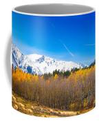 Colorado Rocky Mountain Independence Pass Autumn Pano 1 Coffee Mug