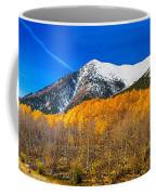Colorado Rocky Mountain Independence Pass Autumn Panorama Coffee Mug
