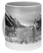 Colorado Rocky Mountain Winter Horseshoe Park Bw Coffee Mug
