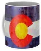 Colorado State Flag Weathered And Worn Coffee Mug