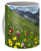 Colorado Wildflowers And Mountains Coffee Mug by Cascade Colors