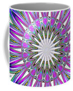 Colored Foil Lily Kaleidoscope Under Glass Coffee Mug