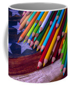 Colored Pencils On Wooden Flag Coffee Mug