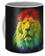 Colorful Artistic Portrait Of A Lion On Black Background  Coffee Mug