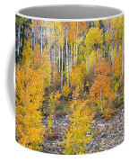 Colorful Autumn Forest In The Canyon Of Cottonwood Pass Coffee Mug