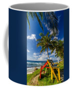 Colorful Bench On Caribbean Coast Coffee Mug