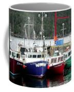 Colorful Boats Tied Up To The Wharf Coffee Mug