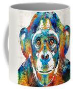 Colorful Chimp Art - Monkey Business - By Sharon Cummings Coffee Mug