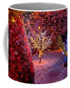 Colorful Christmas Lights On Trees Coffee Mug