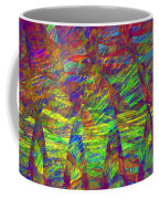 Colorful Computer Generated Abstract Fractal Flame Coffee Mug