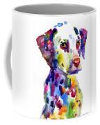 Colorful Dalmatian Puppy Dog Portrait Art Coffee Mug