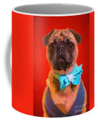 Colorful Dapper Pug Coffee Mug