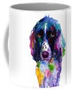 Colorful English Springer Setter Spaniel Dog Portrait Art Coffee Mug