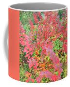 Colorful Fall Leaves Autumn Crepe Myrtle Coffee Mug