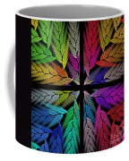Colorful Feather Fern - 4 X 4 - Abstract - Fractal Art - Square Coffee Mug