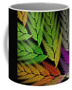 Colorful Feather Fern - Abstract - Fractal Art - Square - 1 Tl Coffee Mug