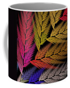 Colorful Feather Fern - Abstract - Fractal Art - Square - 2 Tr Coffee Mug
