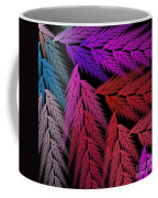 Colorful Feather Fern - Abstract - Fractal Art - Square - 4 Lr Coffee Mug