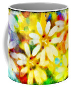 Colorful Floral Abstract - Digital Paint Coffee Mug