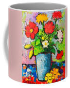 Colorful Flowers From My Garden Coffee Mug