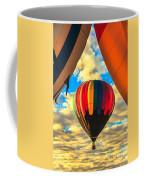 Colorful Framed Hot Air Balloon Coffee Mug by Robert Bales