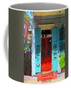 Colorful French Quarter Door  Coffee Mug