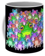 Colorful Froggy Family Coffee Mug