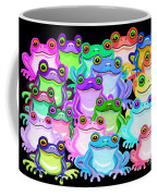 Colorful Frogs Coffee Mug