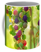 Colorful Grapes Coffee Mug by Peggy Collins