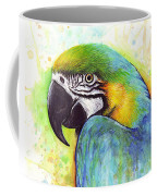 Macaw Painting Coffee Mug by Olga Shvartsur