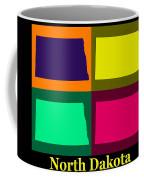 Colorful North Dakota Pop Art Map Coffee Mug