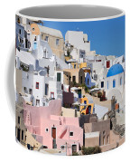 Colorful  Oia Coffee Mug