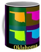 Colorful Oklahoma State Pop Art Map Coffee Mug