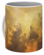 Colorful Orange Yellow Storm Clouds At Sunset  Coffee Mug