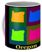 Colorful Oregon Pop Art Map Coffee Mug