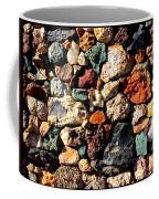 Colorful Rock Wall With Border Coffee Mug