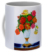 Colorful Roses Coffee Mug by Zina Stromberg