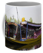 Colorful Shikaras Tied Up Next To The Dal Lake In Srinagar Coffee Mug