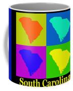 Colorful South Carolina Pop Art Map Coffee Mug