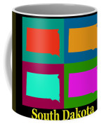 Colorful South Dakota Pop Art Map Coffee Mug