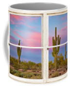 Colorful Southwest Desert Window Art View Coffee Mug